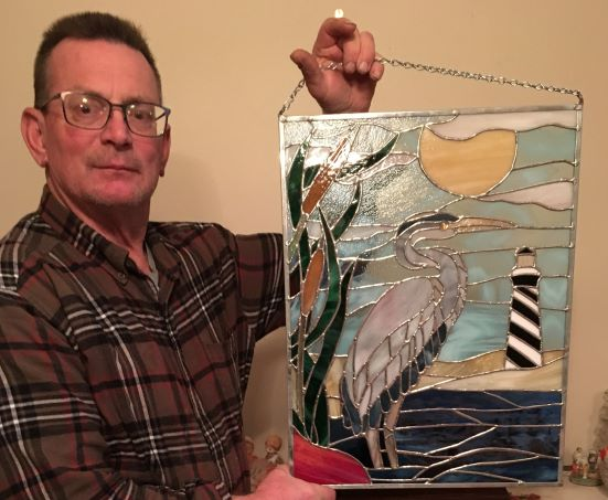 WINNER Blue Heron Stained Glass